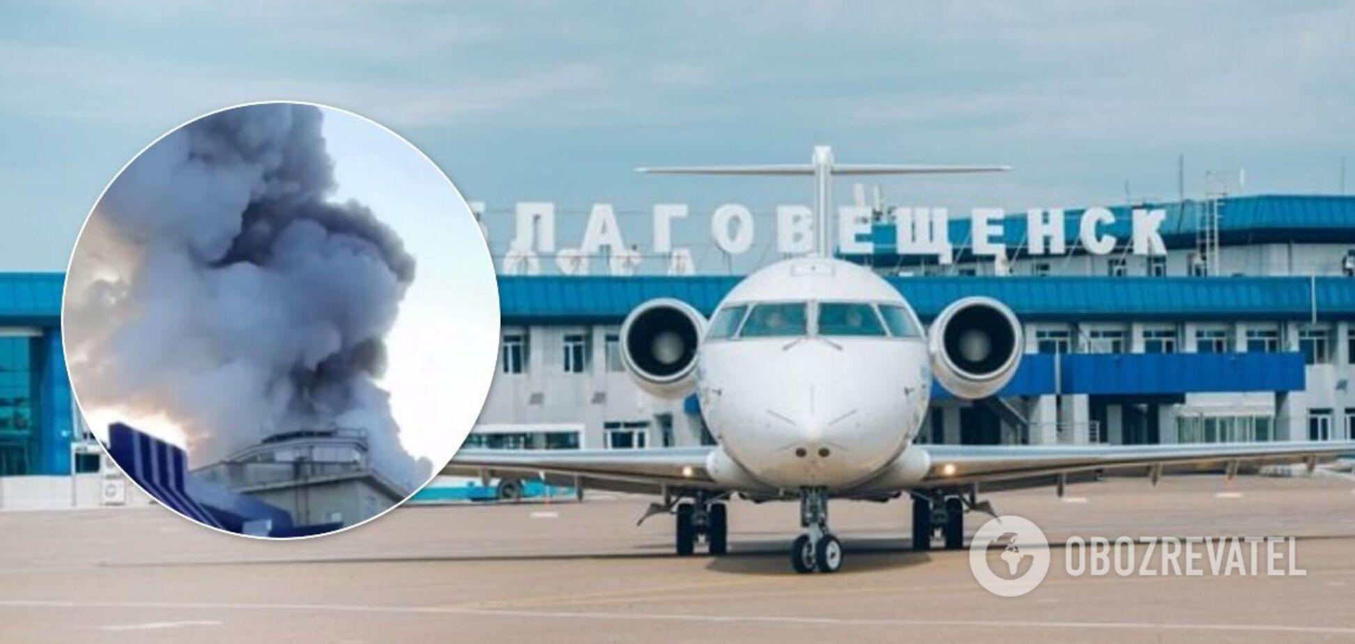 В России загорелся международный аэропорт