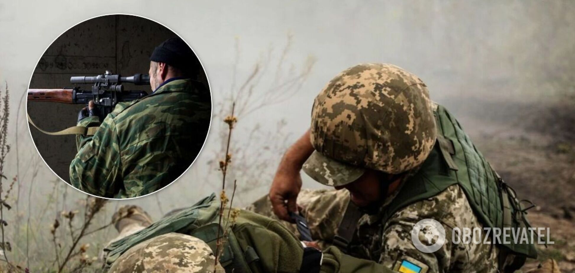 Снайпер террористов ранил бойца ВСУ