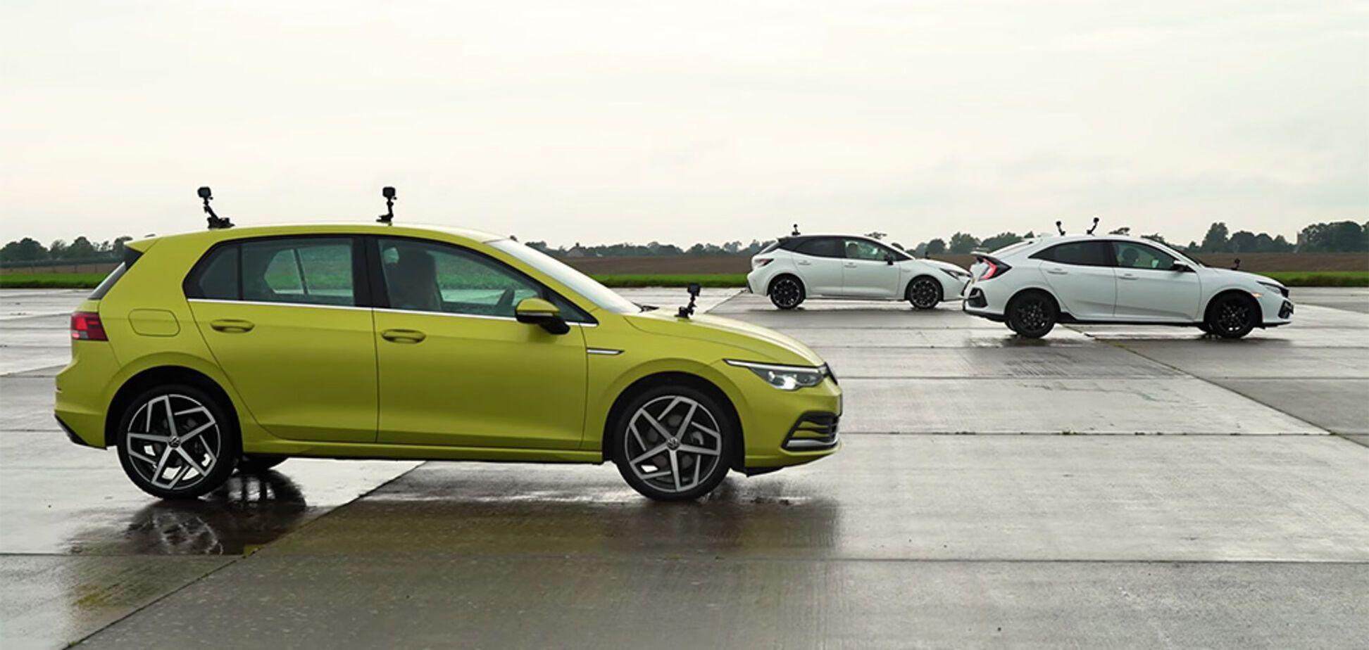 Популярну трійцю VW Golf, Toyota Corolla і Honda Civic порівняли на швидкість