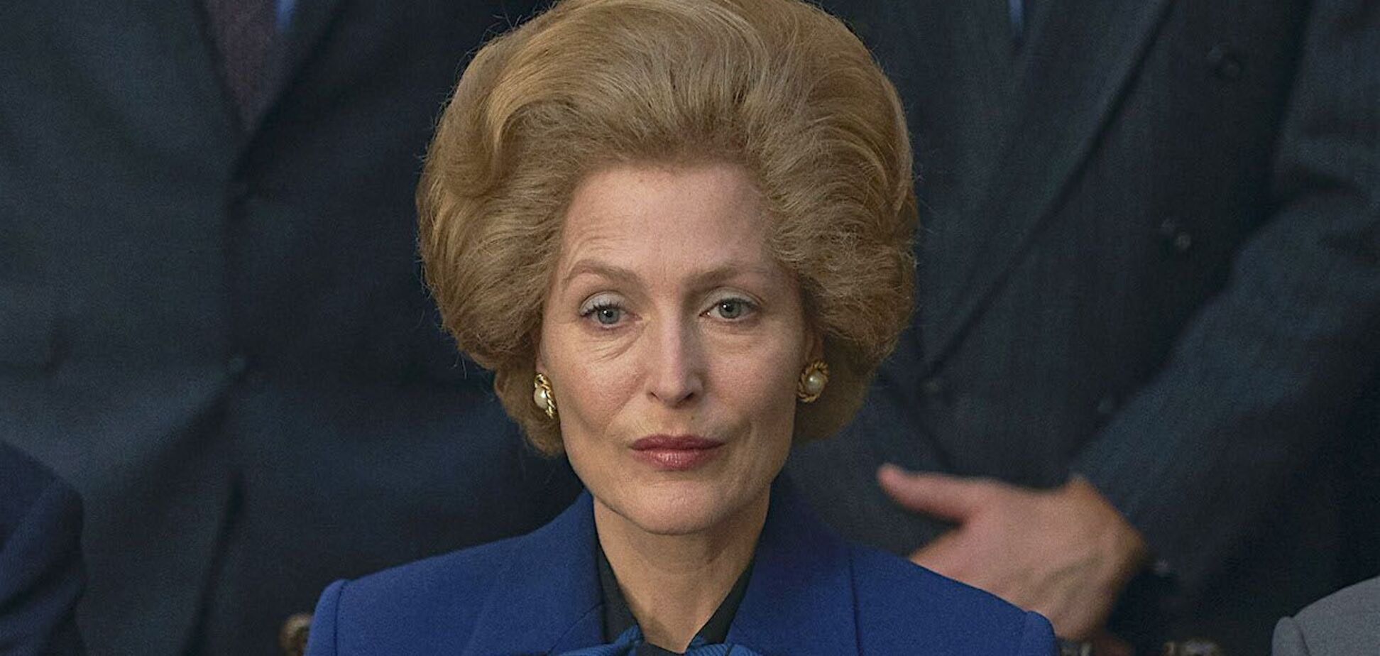 Джилліан Андерсон в образі Маргарет Тетчер з серіалу 'Корона'