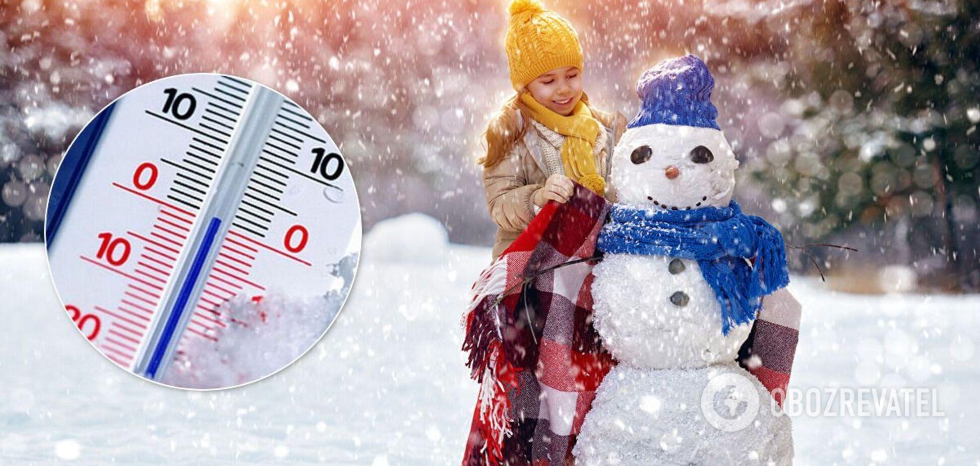 Погода в январе в Украине