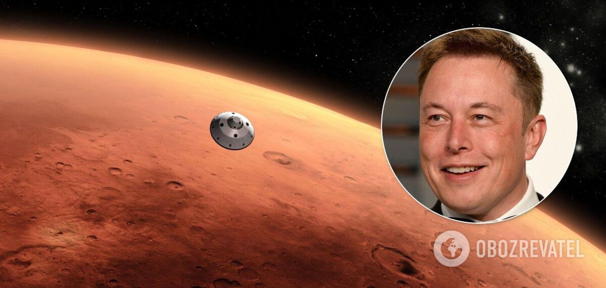 Маск назвал сроки, когда отправит человека на Марс