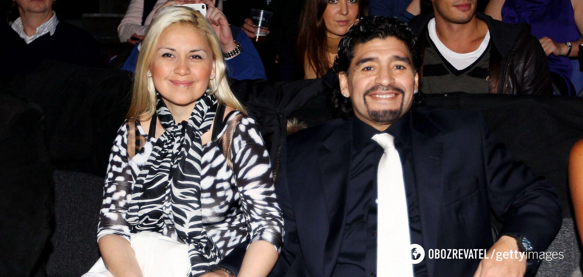 Дієго Марадона і Вероніка Охеда