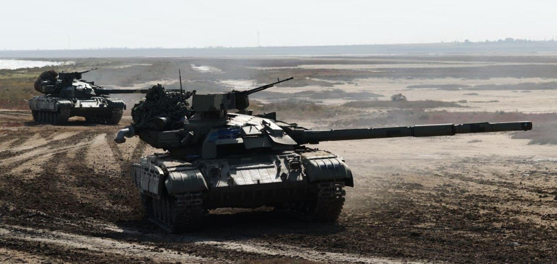 На юге Украины ВСУ провели танковые учения