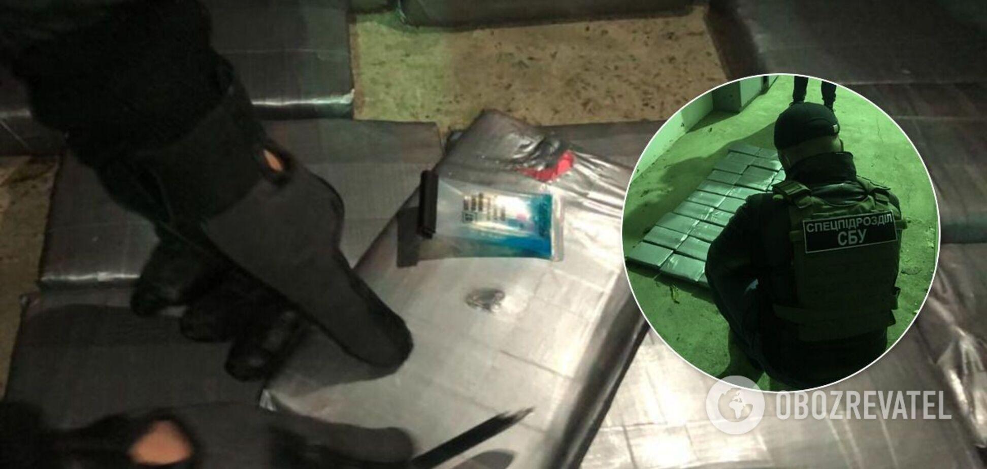 СБУ вказала вагу кокаїну на 8 кг меншу