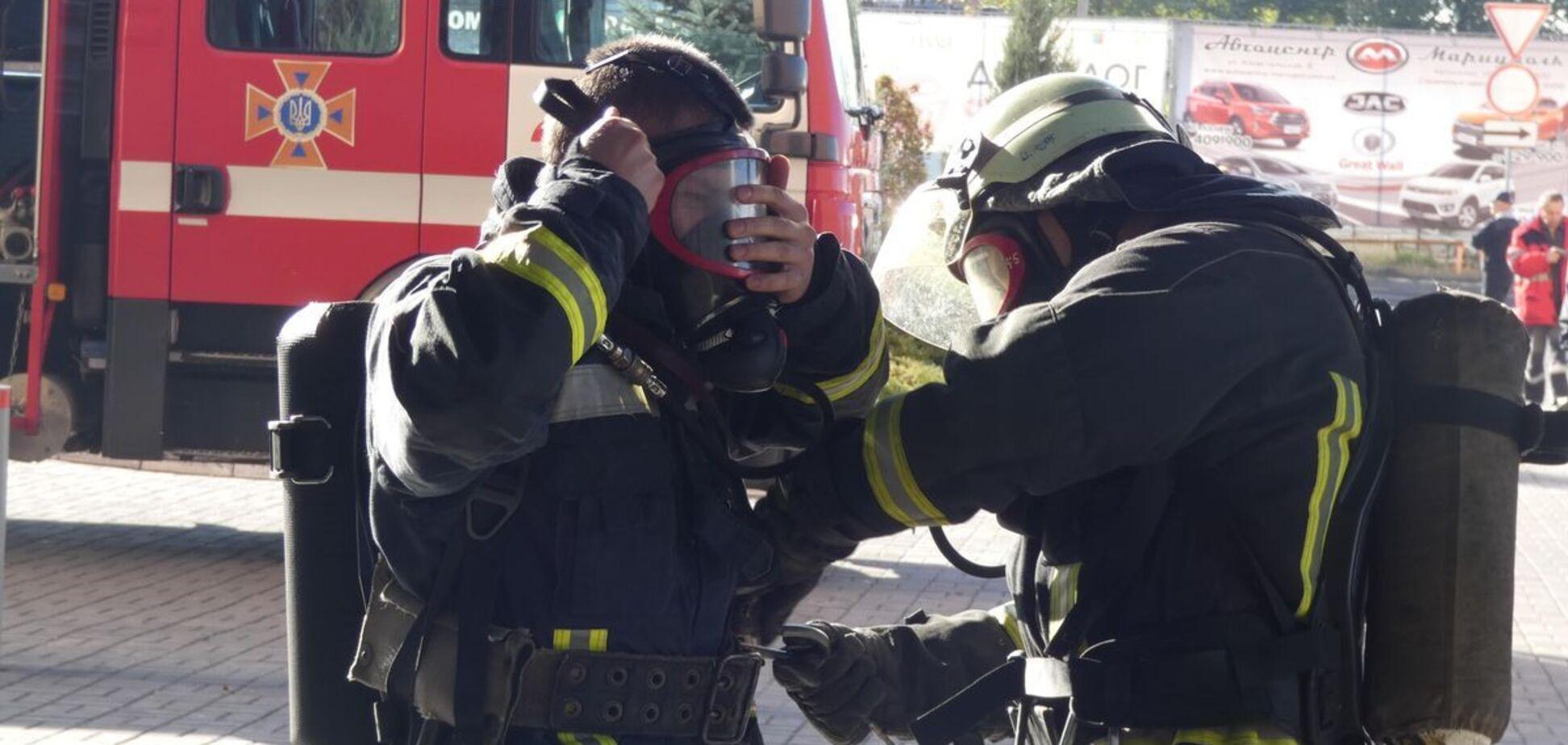 ДСНС сообщила о возгорании автобуса в Днепропетровской области