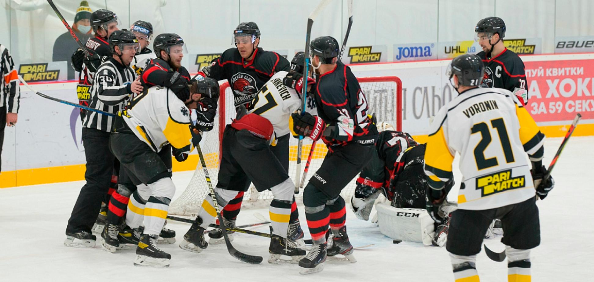 Бійка в чемпіонаті України з хокею