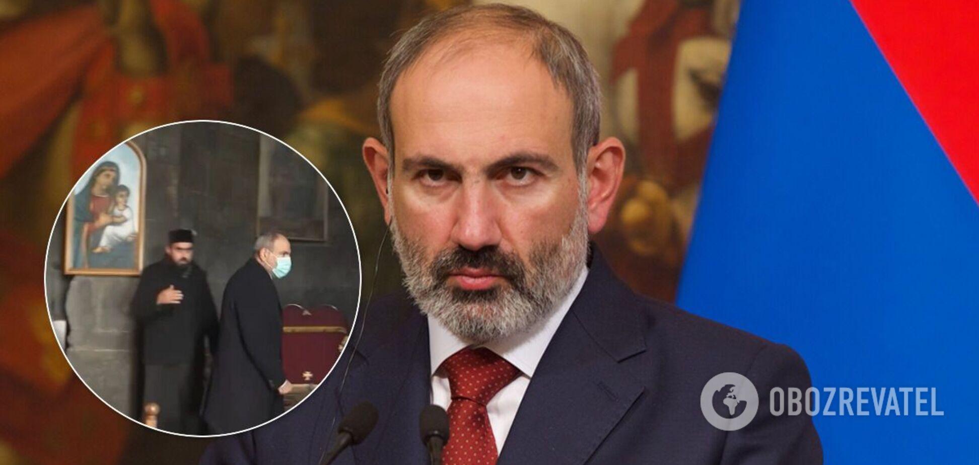 У Вірменії священник не подав руки Пашиняну і вигнав його з церкви. Відео