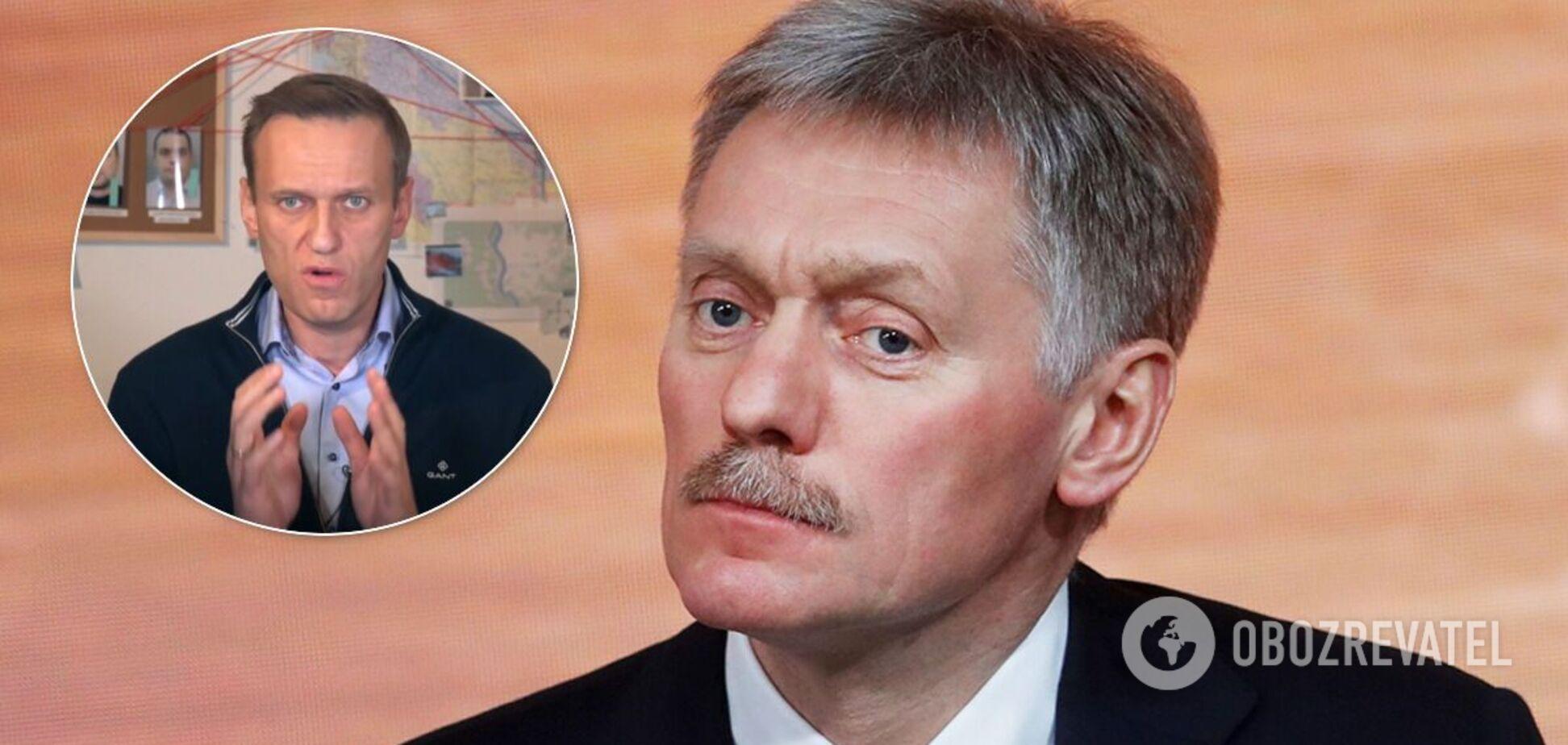 У Кремлі заявили, що не дивилися відео розслідування Навального про отруєння