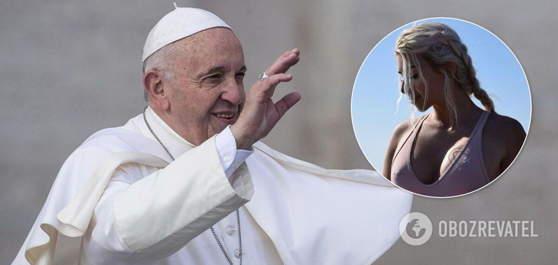 Папа Римский снова 'лайкнул' в сети откровенное фото модели