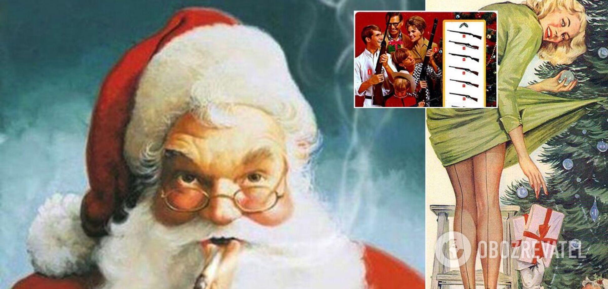 Вінтажна новорічно-різдвяна реклама