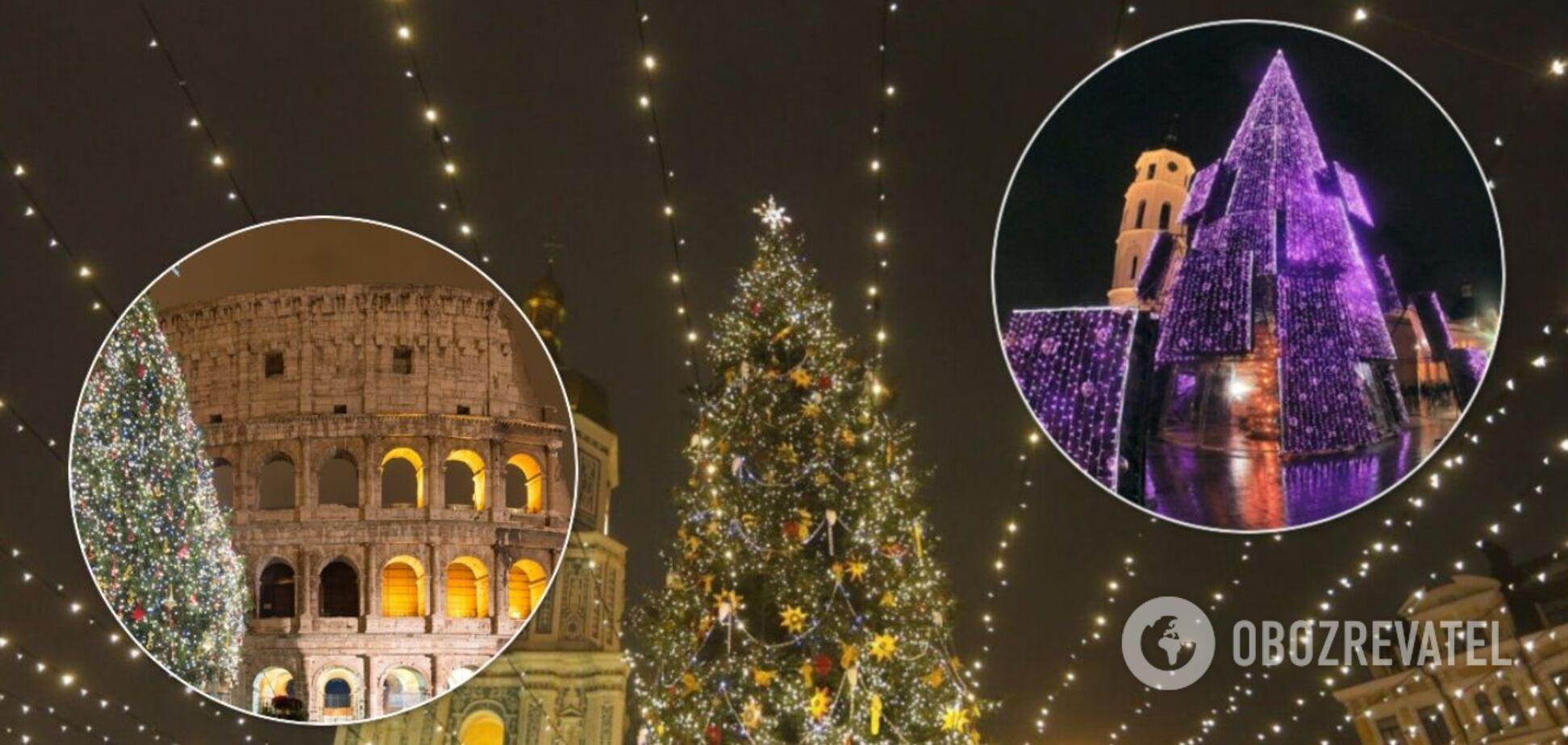 Самые красивые елки Европы 2021 года: яркие фото