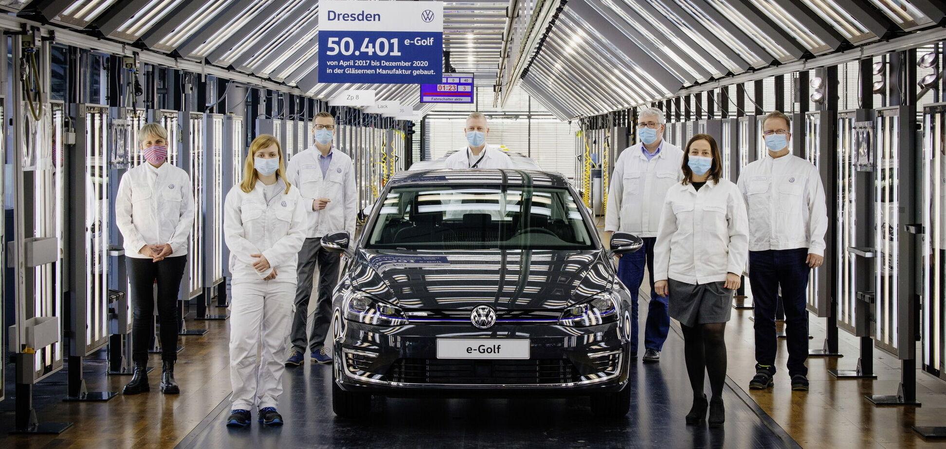 В Volkswagen попрощались с электрическим e-Golf