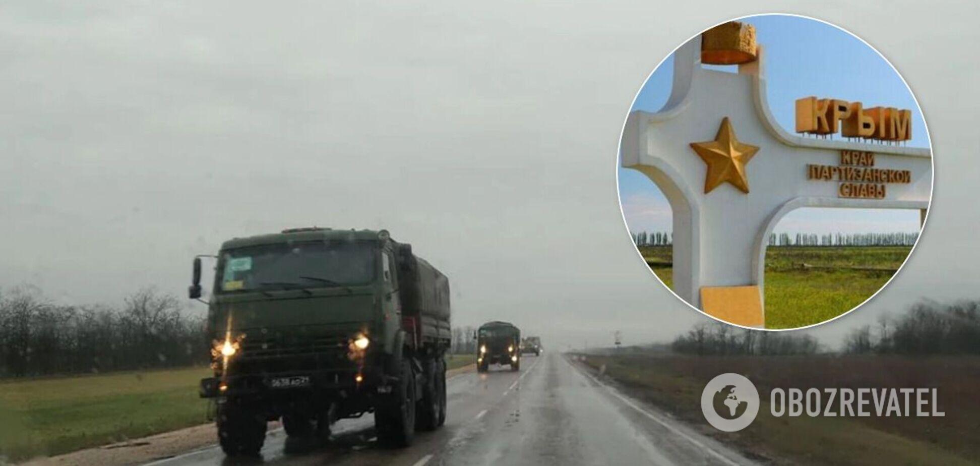 Було близько 25 бронетранспортерів і 40 вантажівок