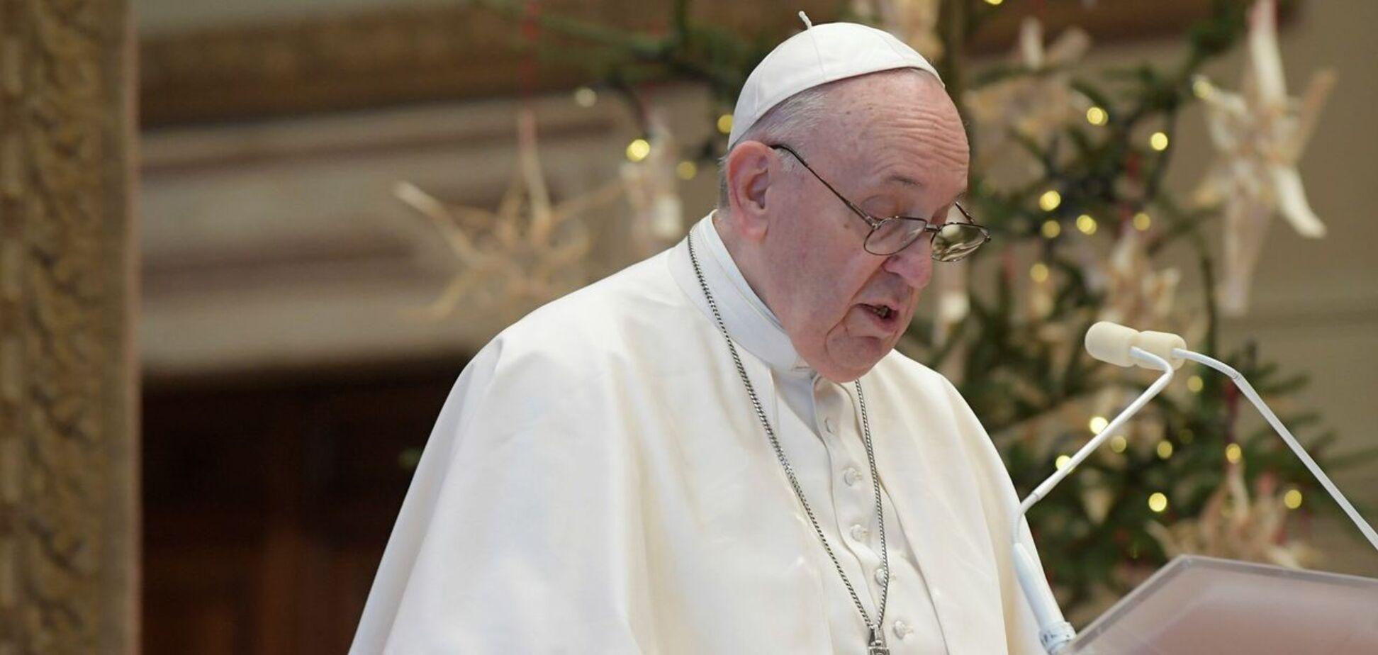 Папа Римський у різдвяному посланні згадав Україну