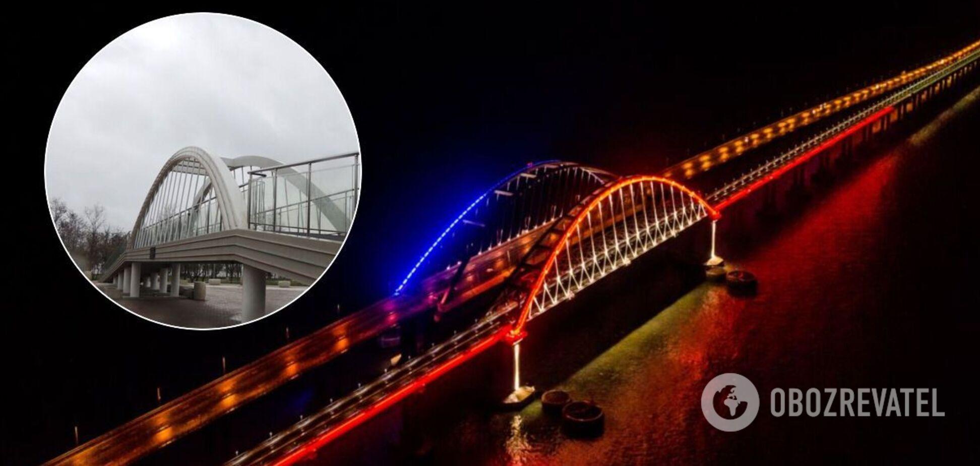 В Крыму покрылась трещинами мини-копия Керченского моста. Фото