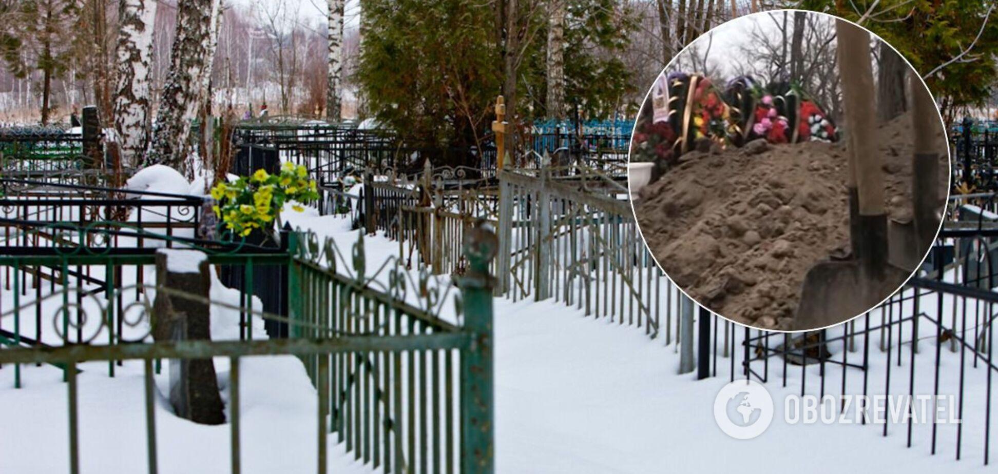 На Полтавщині в могилу до померлої пенсіонерки підзахоронили родичку чиновника