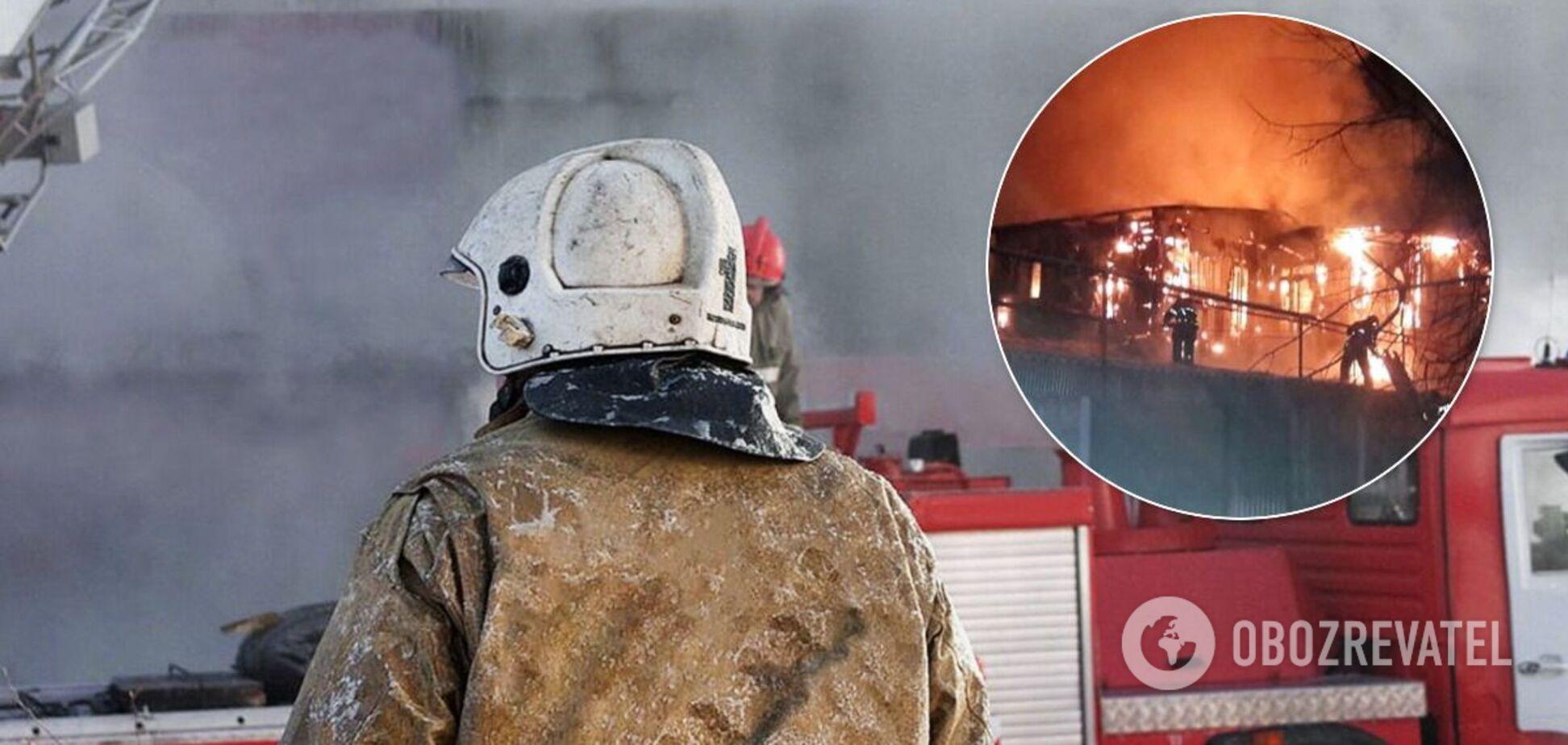 Пожар в Иркутске