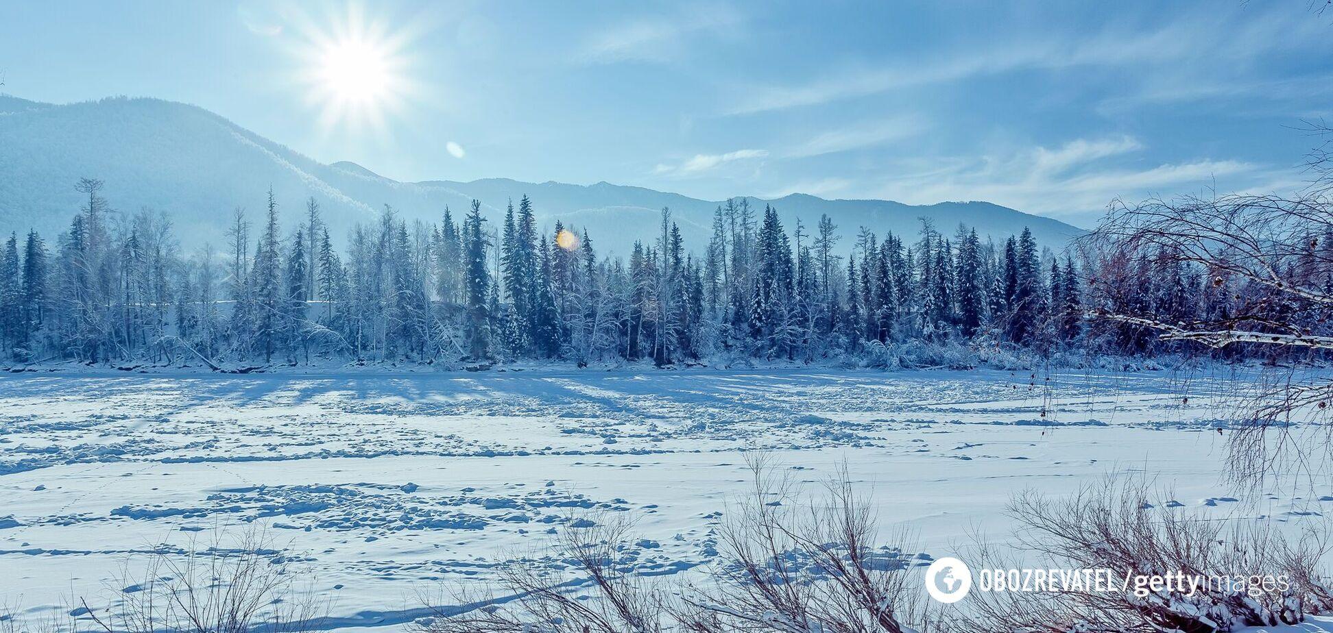 Сибір у Росії взимку