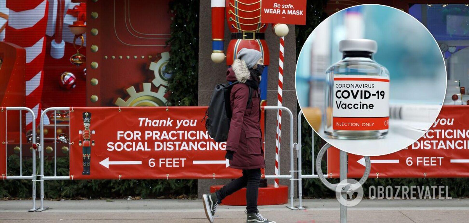 Канада озвучила терміни початку вакцинації проти COVID-19