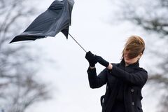 Сильный ветер в Украине