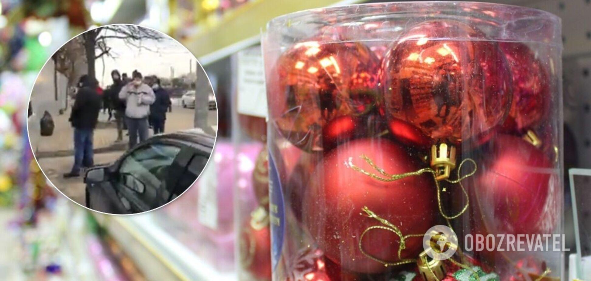 Ажиотаж в супермаркетах перед Новым годом