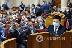 Рада рассмотрела законопроекты Зеленского