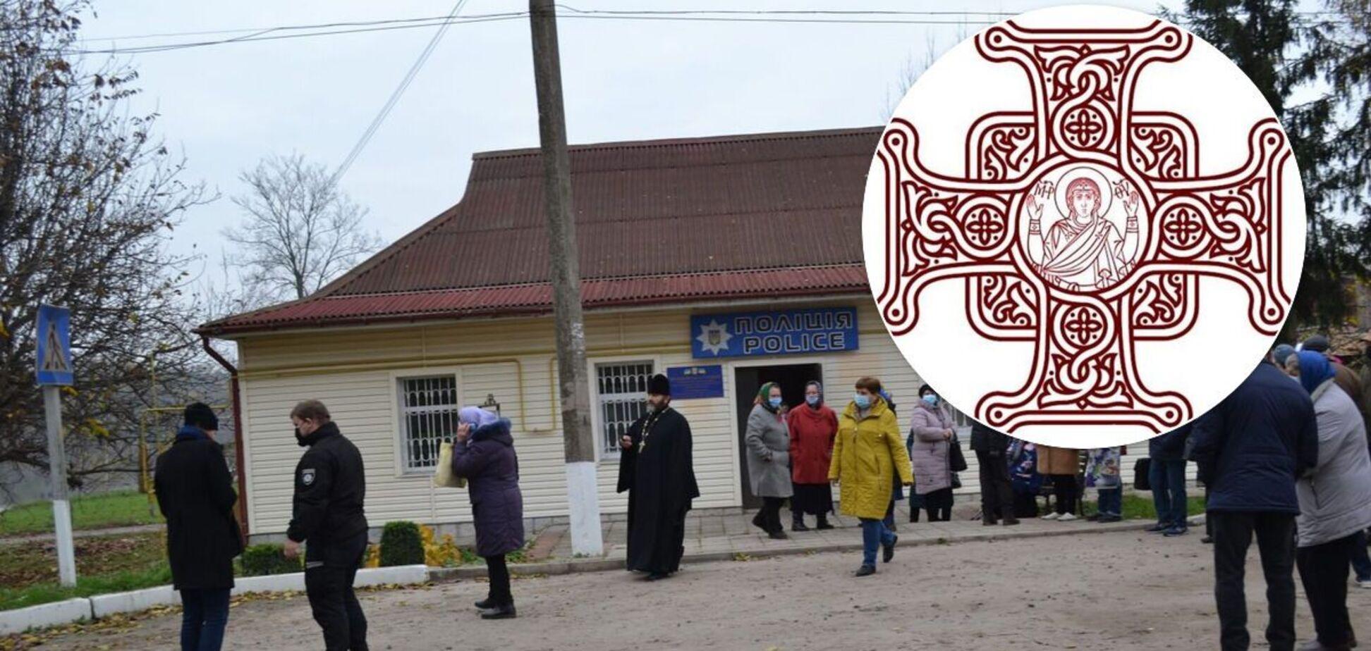 В Черкасской верующих ПЦУ не пускают в церковь