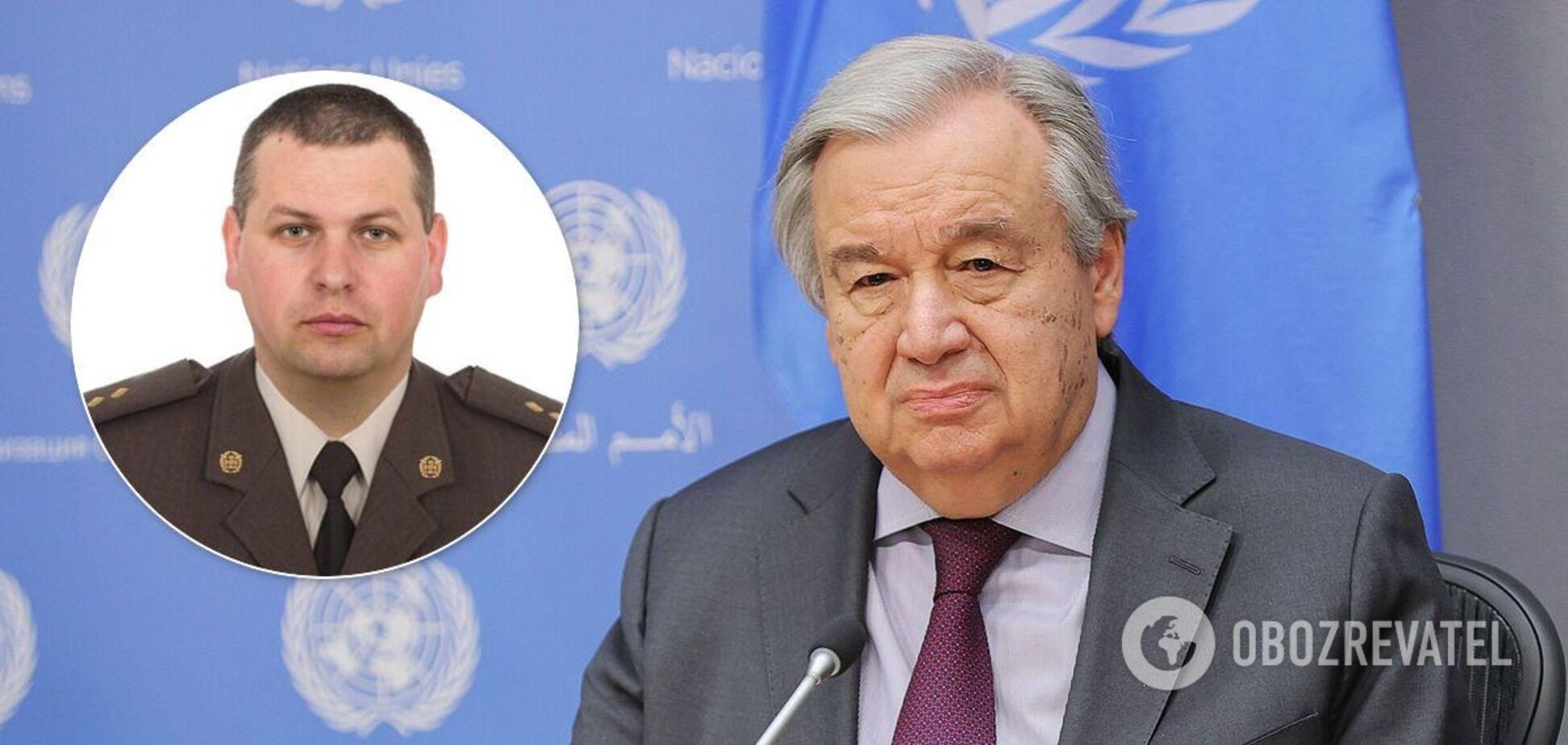 Антониу Гутерреш отреагировал на смерть Александра Бривко