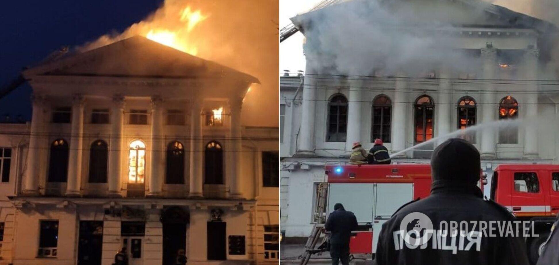 У Полтаві загорілися нічний клуб і ресторан: дим піднявся до неба. Фото та відео