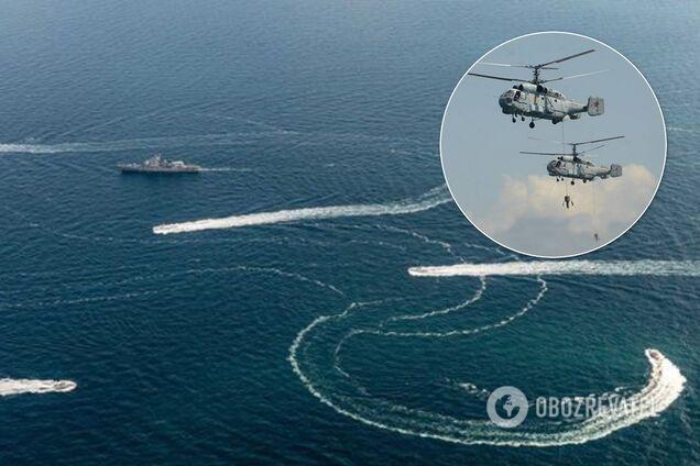 Россия подняла в небо над Крымом военные вертолеты и искала вражеские субмарины в море