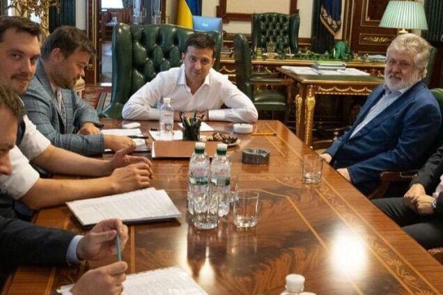 Ігор Коломойський на зустрічі з Володимиром Зеленським