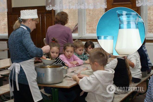 У шкільних їдальнях з'явиться молоко: Зеленська розповіла подробиці