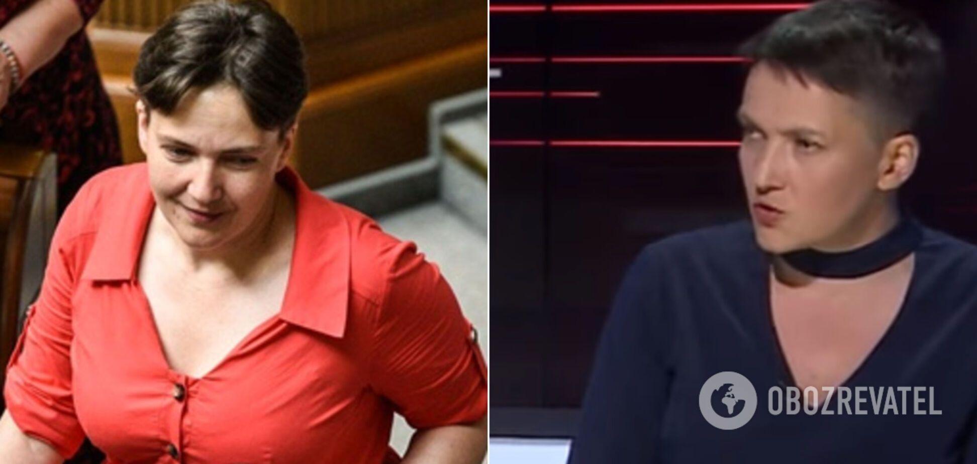 В красном платье в океан, с чокером на ТВ: самые странные шалости Надежды Савченко