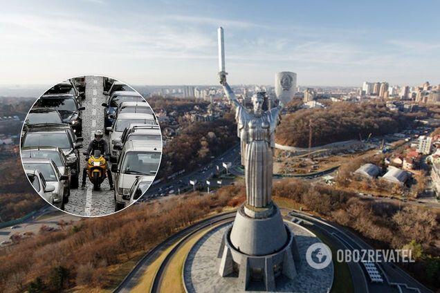 Київ накрила масштабна хвиля заторів. Ілюстрація