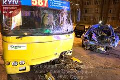 'Бухущий в зюзю!' В Киеве авто врезалось в маршрутку: ранены четверо. Фото и видео ДТП