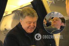 Полно 'слуг', Порошенко и друг Путина: появились фото из самолета в Мюнхен