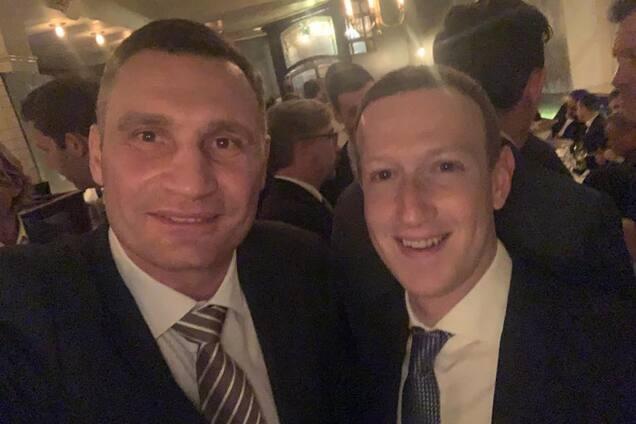 Віталій Кличко і Марк Цукерберг