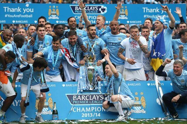 """Гравці """"Манчестер Сіті"""" святкують перемогу в АПЛ в сезоні 2013/14"""