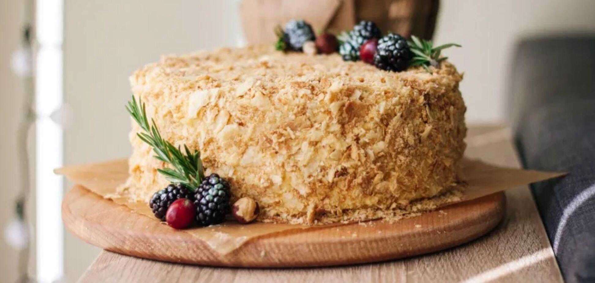Рецепт найніжнішого торта 'Наполеон' за 15 хвилин
