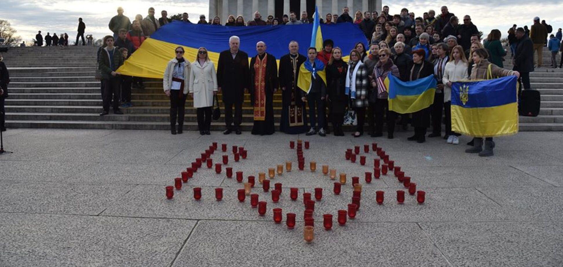 Запалили свічки у формі герба: у США вшанували пам'ять Героїв Небесної Сотні. Фото