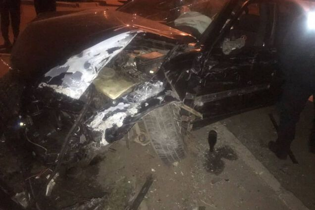"""Пьяный """"гонщик"""" разбил четыре автомобиля в Одессе"""