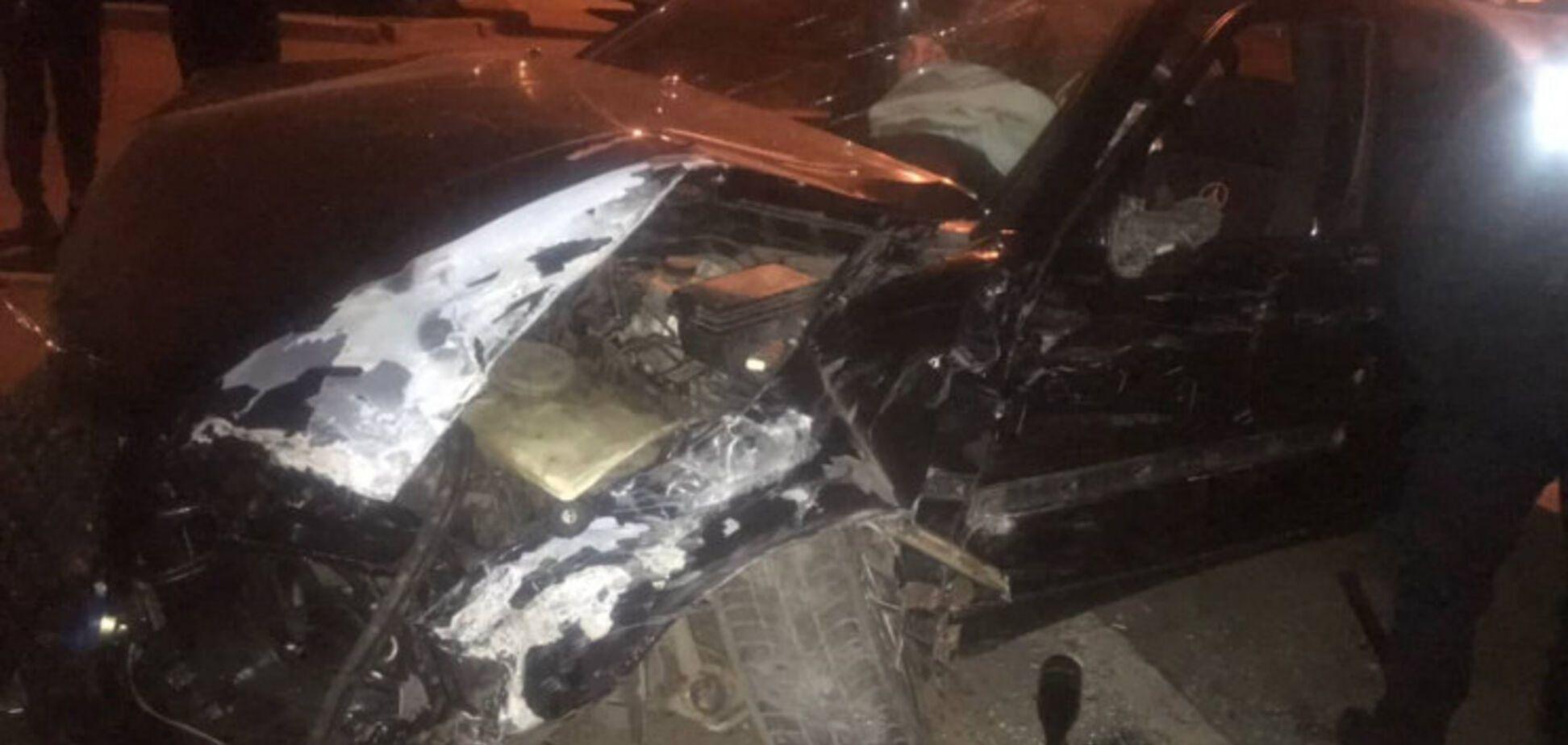 Пьяный 'гонщик' разбил четыре автомобиля в Одессе