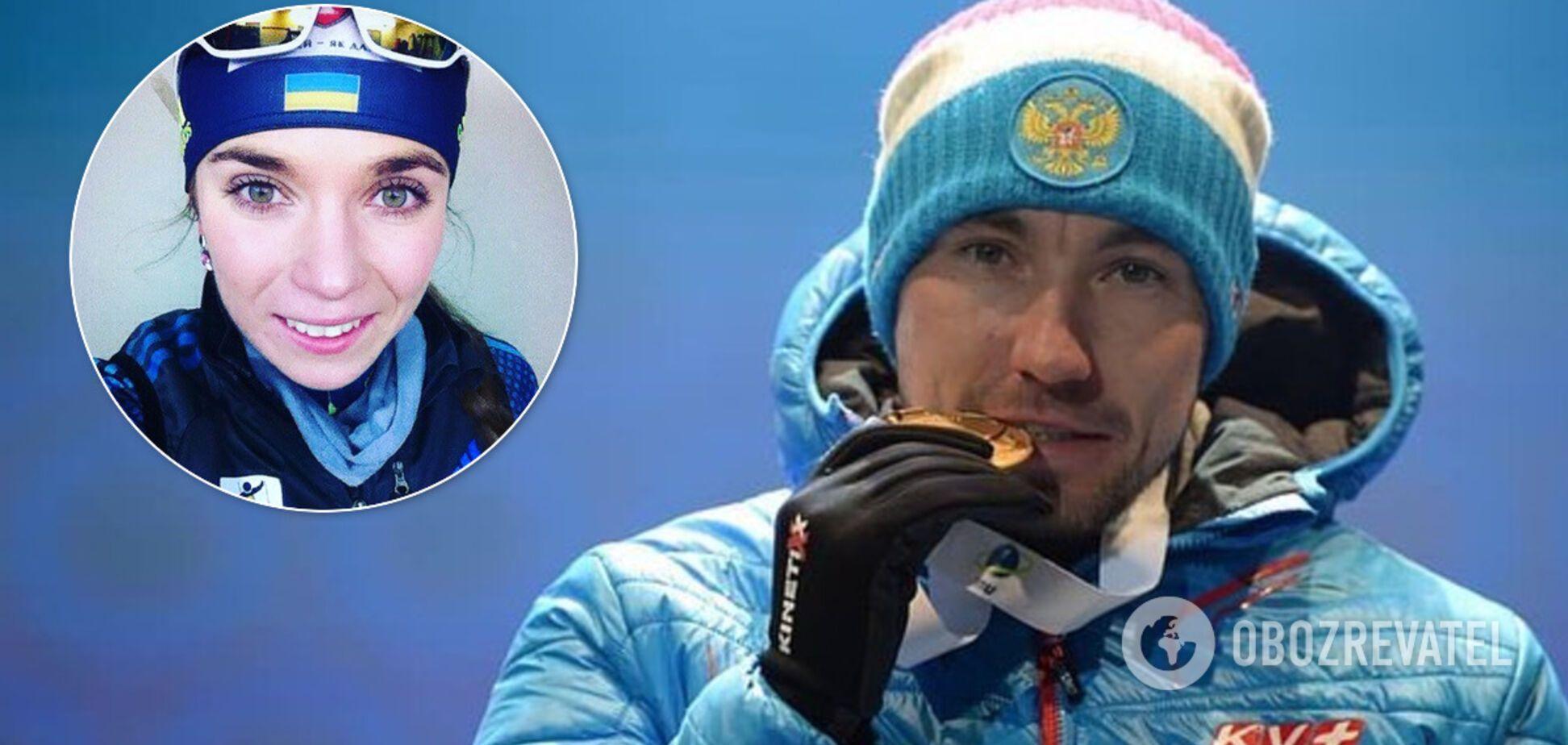 Дружина російського чемпіона світу з біатлону привітала його українською мовою