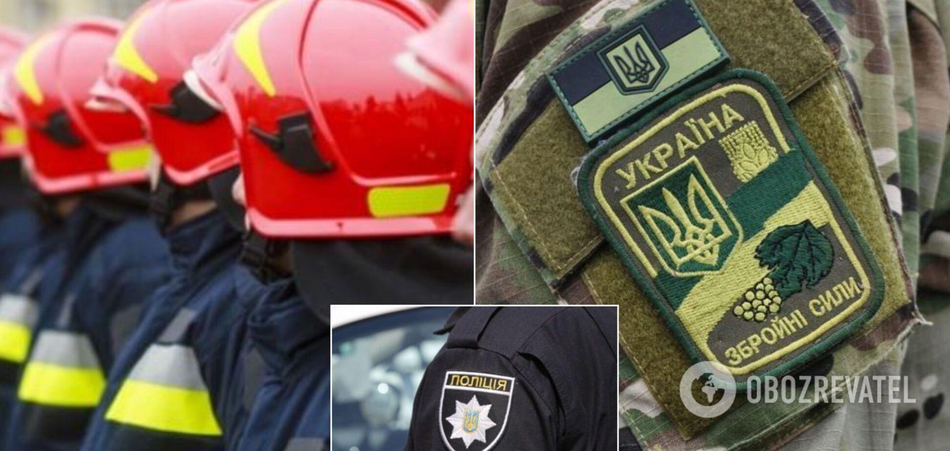 На Київщині зібрали поліцейських, військових та рятувальників