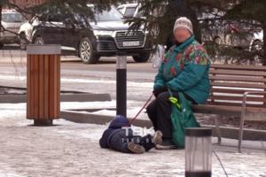 Як собаку: росіянка протягла дитину в сльозах по тротуару за 'повідець'. Відео