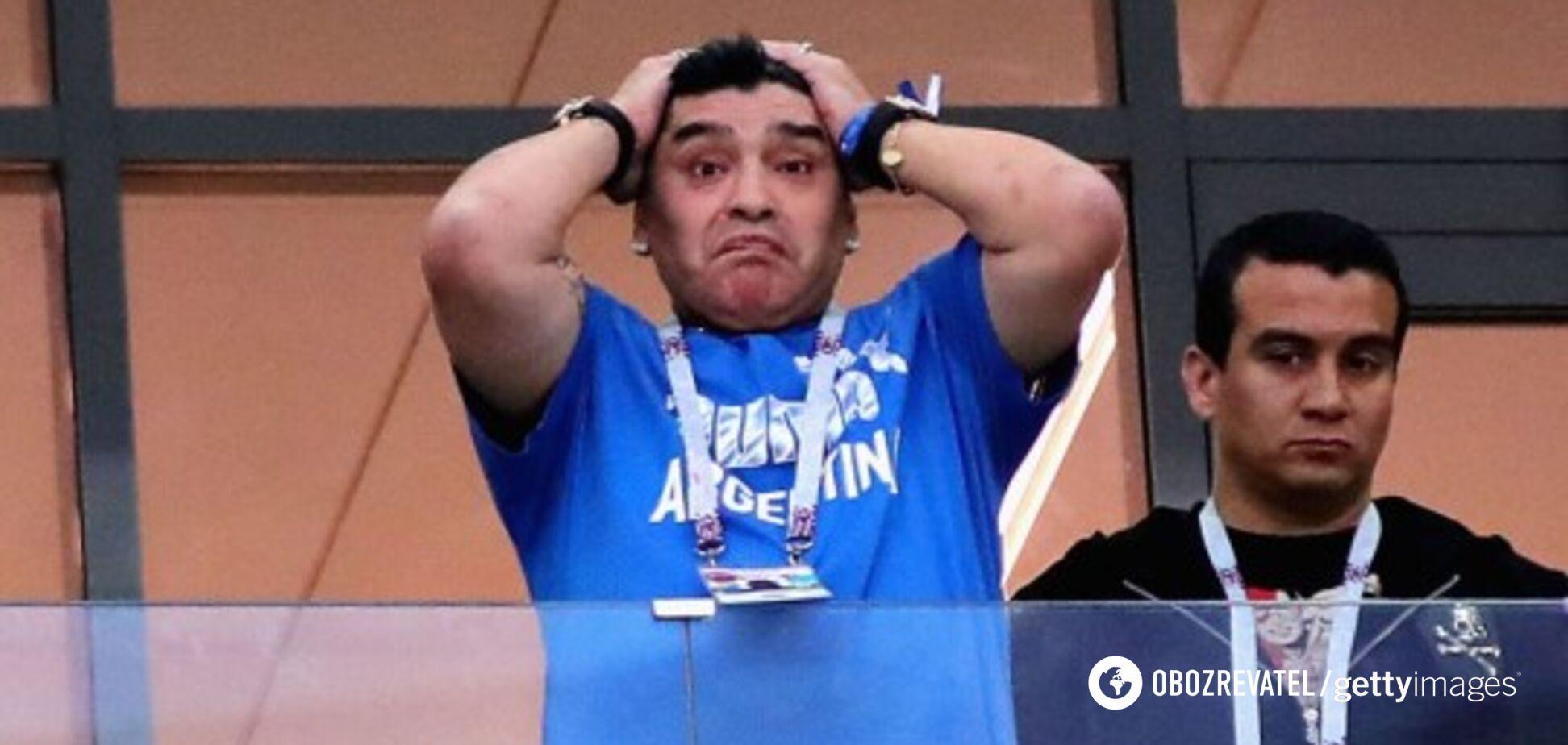 'Попалився': Марадону спіймали з кокаїном прямо під час матчу