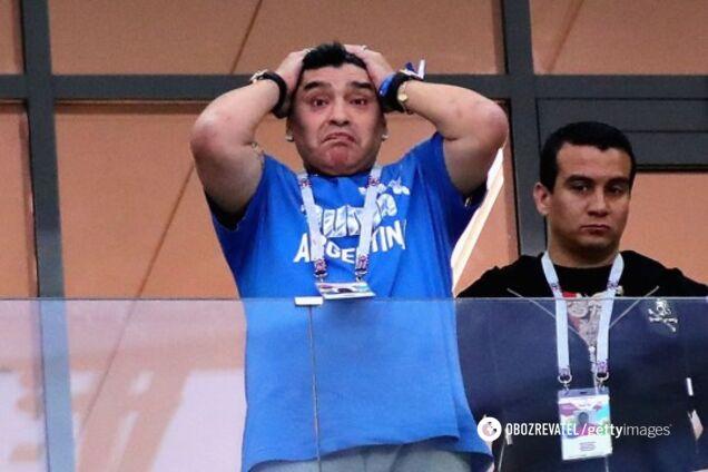 Спалился: Марадону поймали с кокаином прямо во время матча
