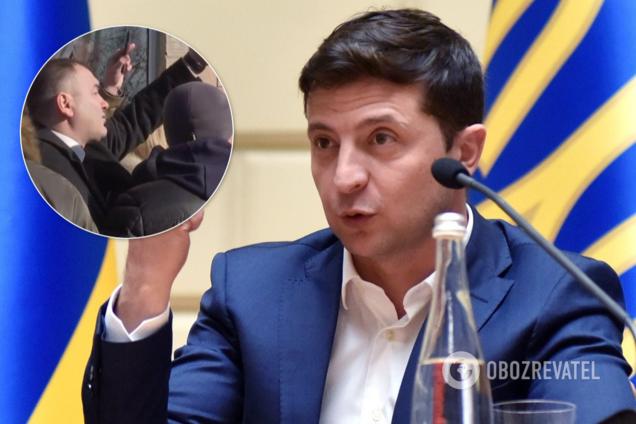 """""""Розбійник"""" знову посперечався із Зеленським у Борисполі"""