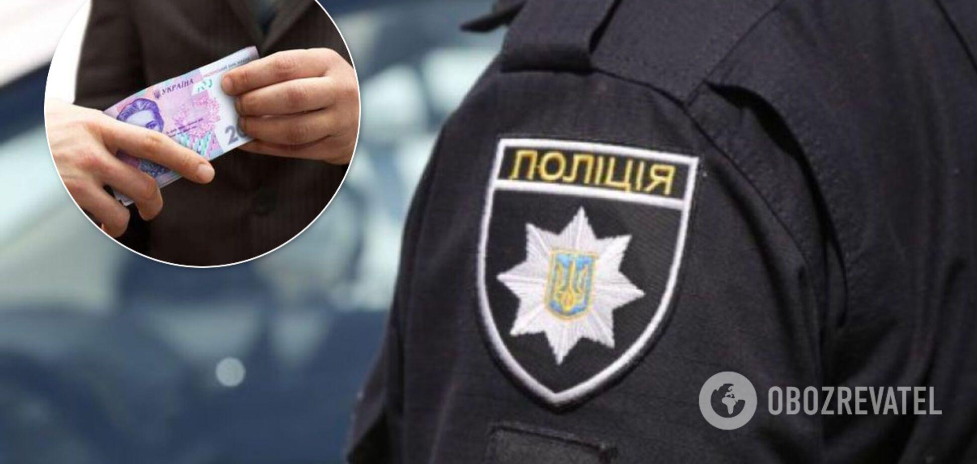 На Київщині поліцейський спіймався на хабарі. Ілюстрація